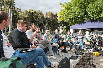 Podiumsdiskussion Bundestagskandidaten Fridays for Future Klimastreik