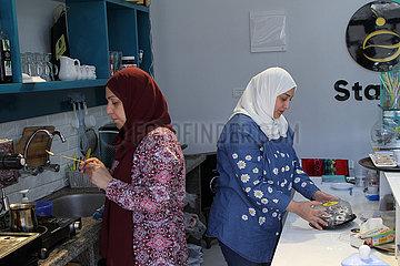 MIDEAST-GAZA CITY-PALESTINIAN WOMEN-FAMILY PROJECTS