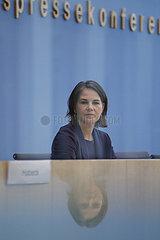 Bundespressekonferenz zum Thema: Buendnis 90/ die Gruenen - zu den Bundestags- und Landtagswahlen