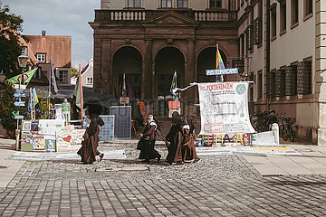 Innenstadt von Augsburg am 27.09.21