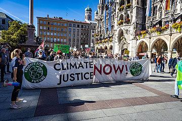 Klimastreik Fridays for Future München am 01.10.2021
