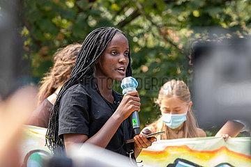 Greta Thunberg bei Klimastreik in Mailand