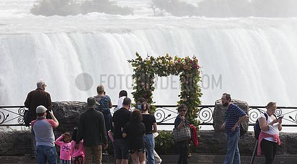 Kanada-Ontario-Niagara Falls-Blumeninstallationen