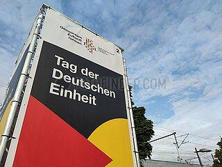 Feier zum Tag der Deutschen Einheit 2021 in Halle (Saale)