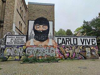 Graffiti fuer Carlo Giuliani
