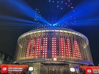 UAE-DUBAI-EXPO 2020-China Pavilion-Licht-Show