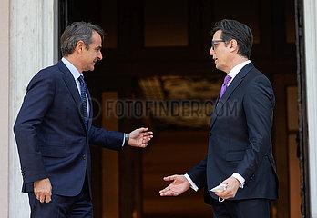 Griechenland-Athen-Nord-Mazedonien-Präsident-Besuche
