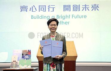China-Hong-Kong-Carrie-Lam-Politikadresse-Pressekonferenz (CN)