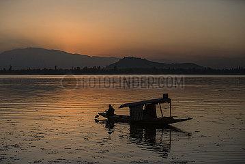 Kaschmir-täglicher Leben-Sonnenuntergang