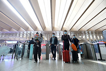 # China-National Day Holiday-Gipfel der Rückkehr Passagiere (CN)