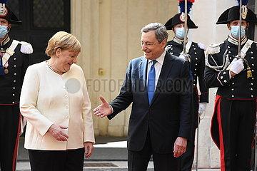 Italien-Rome-PM-Deutschland-Kanzler-Treffen