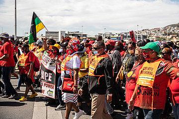 Südafrika-Kapstadt-Cosatu-Strike