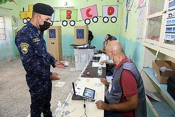 Irak-Bagdad-Parlaments-Sicherheitsmitglieder