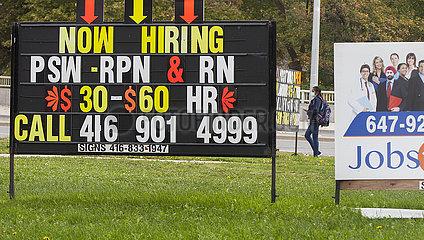 Kanada-Toronto-Arbeitslosenquote