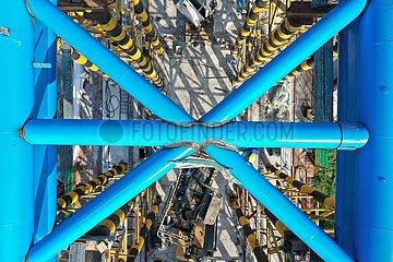 China-Guangdong-Railway-Bridge-gebundene Bogenschloss