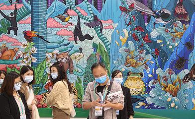 China-Yunnan-Kunming-COP15-Media-Mitte-Innenansicht (CN)