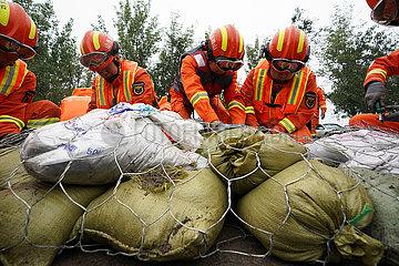 China-Shanxi-Jishan-Hochwasser-Kontrolle (CN)
