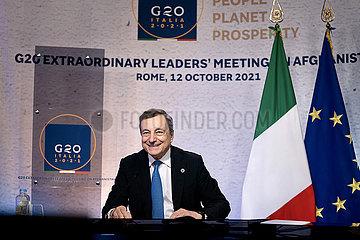 Italien-Rom-G20 Virtual Meeting-Afghanistan