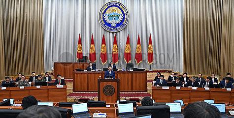 Kirgisistan-Bischkek-Neuer Kabinett von Ministern - geschworen