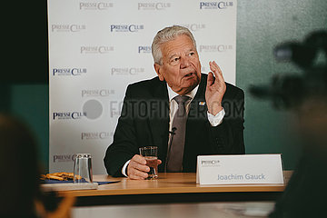 Bundespräsident a. D. Joachim Gauck im Presseclub in München