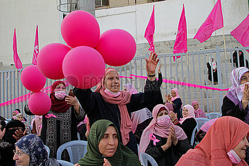 MIDEAST-GAZA CITY-BREAST CANCER-AWARENESS EVENT