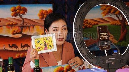 China-Xinjiang-Farmer Maler-Leinwand (CN)