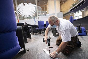 Umbau Plenarsaal Deutscher Bundestag