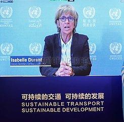 China-Beijing-2. NE Globaler nachhaltiger Transportkonferenz-thematischer Sitzung (CN) China-Beijing-2nd UN Globaler nachhaltiger Transportkonferenz-thematische Sitzung (CN)
