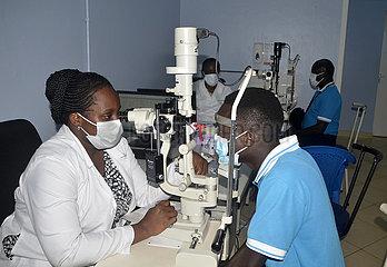 UGANDA-KAMPALA-WORLD SIGHT DAY-FREE EYE SCREENING CAMP