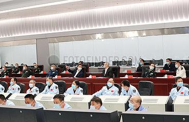 China-Beijing-Han Zheng-Shenzhou-13-Missionsgruß (CN)
