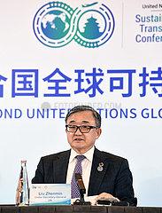 China-Beijing-2nd UN Globaler nachhaltiger Transportkonferenz-Conference-Pressekonferenz (CN)