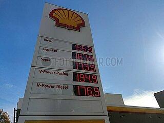 Shell-Tankstelle im Oktober 2021