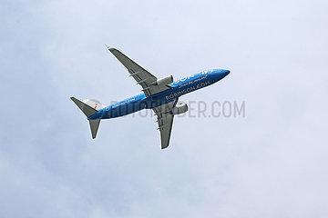 Hannover  Deutschland  Boeing 737 der Fluggesellschaft TUIfly