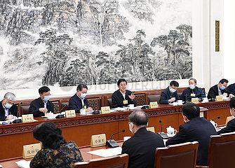 China-Beijing-Li Zhanshu-NPC-Studiensitzung (CN)