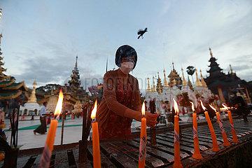 MYANMAR-YANGON-THADINGYUT FESTIVAL