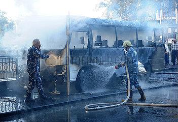 SYRIA-DAMASCUS-ARMY BUS-EXPLOSION