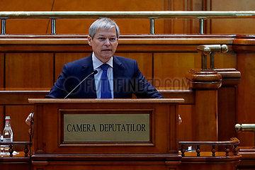 Rumänien-Bukarest-neues Kabinett-Vertrauensfehler