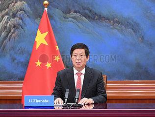 China-Beijing-Li Zhanshu-Uganda-Parlament-Lautsprecher-Talks (CN)