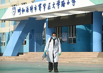 China-Inner-Mongolei-Covid-19-Schools-Desinfektion (CN)