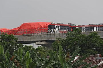 Indonesien-Jakarta-Zug-Kollision