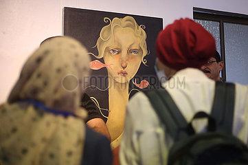 MIDEAST-GAZA-RAFAH-ART-EXHIBITION