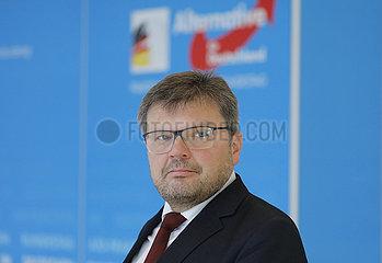 Michael Kaufmann - Pressegespraech mit dem AfD-Kandidaten fuer das Amt des Bundestagsvizepraesidenten  Dt. Bundestag