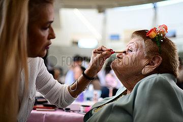 Israel-Herzliya-Holocaust Survivor-Makeup
