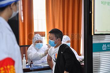 China-Hunan-Changsha-Covid-19-Impfstoff-Booster-Shot (CN)