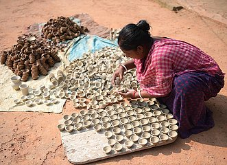 Indien-Agartala-Earth Lamping-Diwali-Festival