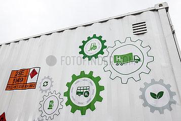 Mobile H2 Wasserstofftankstelle  Muenster  Nordrhein-Westfalen  Deutschland