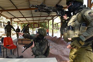 Israel-Sde Eliyahu-spezielle Kräfte-Übung
