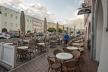 Stadtplatz  Muehldorf a. Inn  Oktober 2021