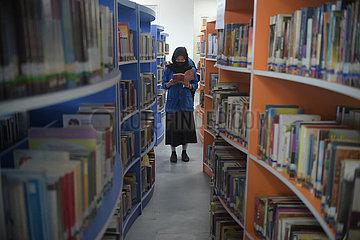 Indonesien-Jakarta-Covid-19-Library-Reopen