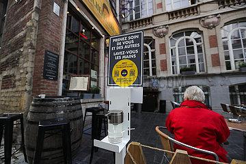 Belgien-Brüssel-Covid-19